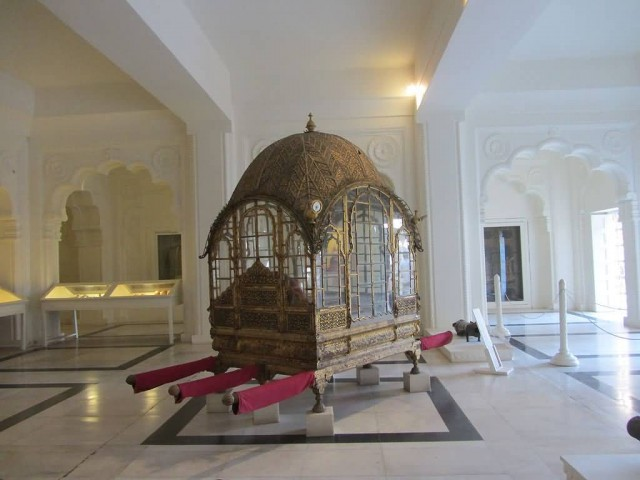 Palanquin In The Mehrangarh Fort Museum