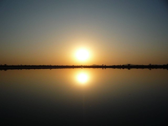 Sambhar Lake Sunset Scene