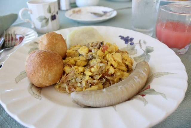 Ackee And Saltfish Dish