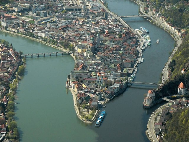 Danube River And Inn River