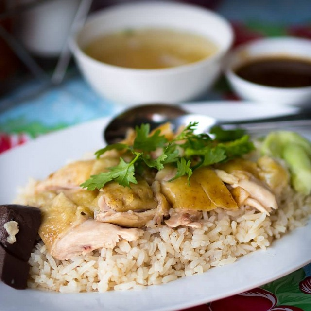 Hainanese Chicken Rice With White Chicken