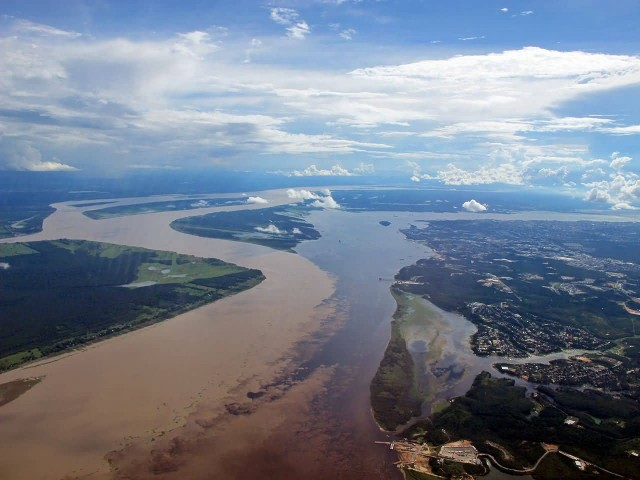 Negro River And Solimões River