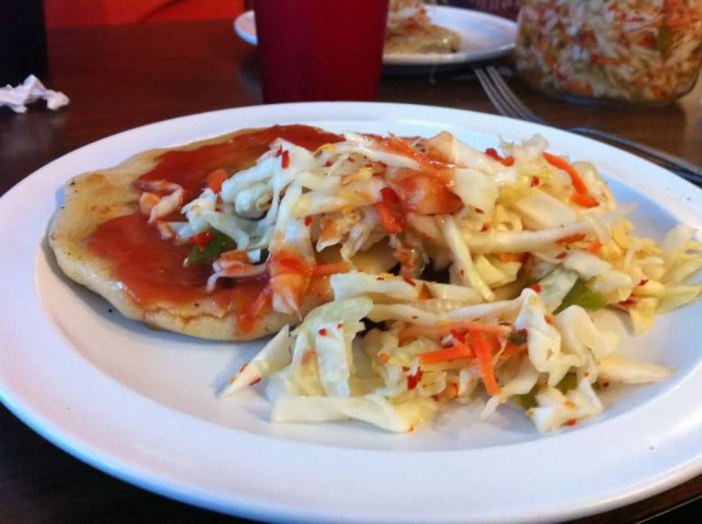 Pupusa With Curtido