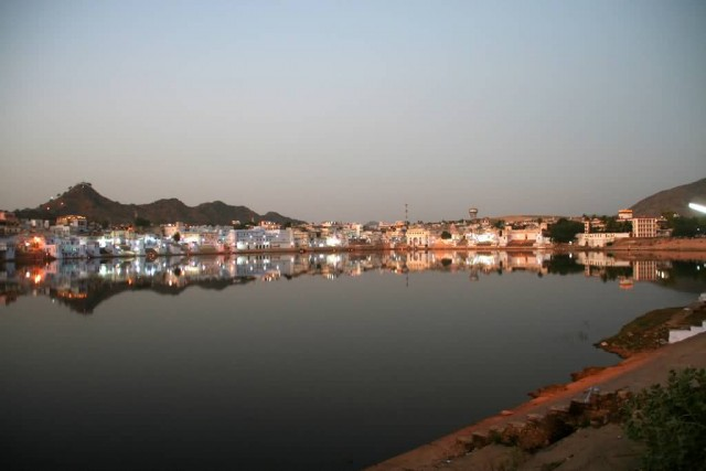 Pushkar Lake At Evening