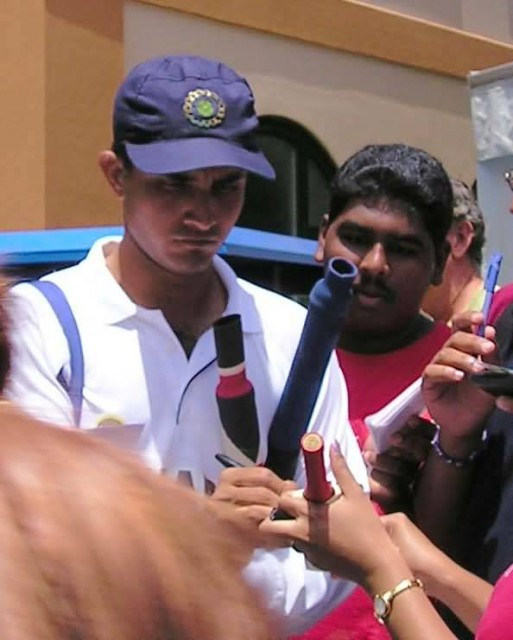 Sourav Ganguly With Fans