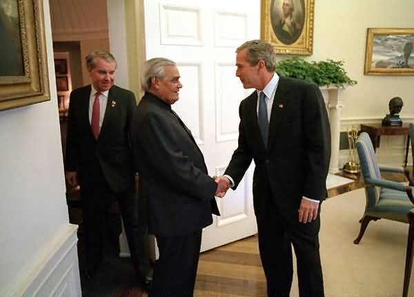 Atalbihari Vajpayee With Bush