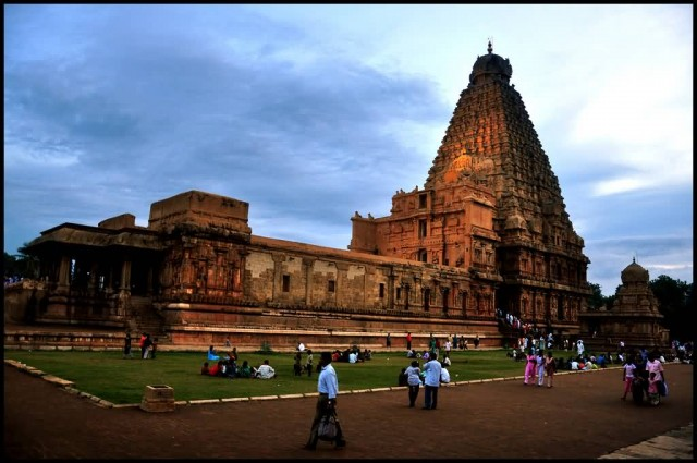Brihadeeswarar Temple Near To Sunset
