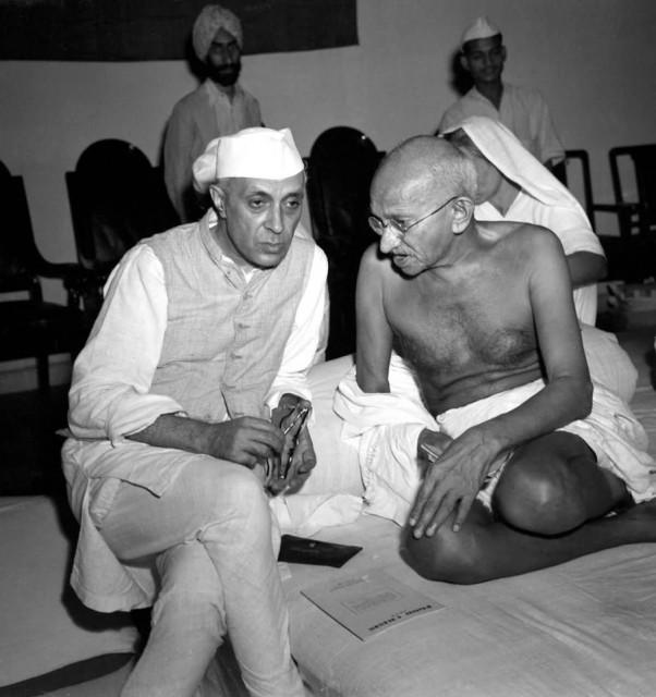Mahatma Gandhi And Jawaharlal Nehru