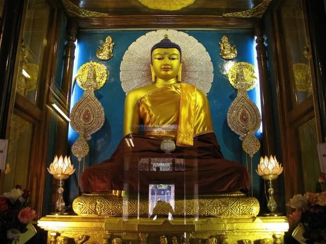 Golden Buddha In Mahabodhi Temple, Bodh Gaya