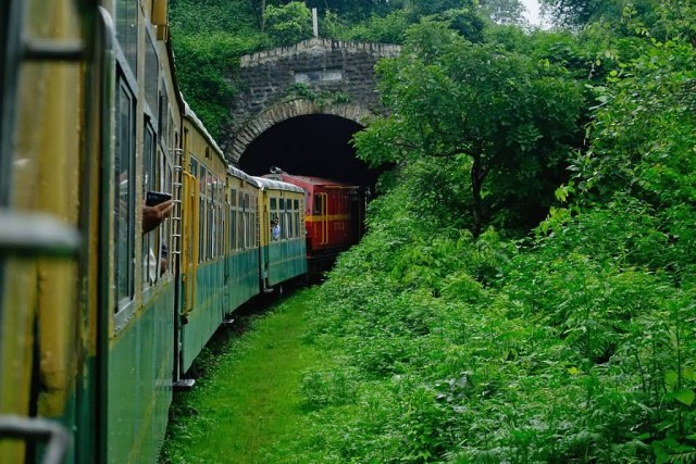 Himalayan Queen Train Entering In Tunnel