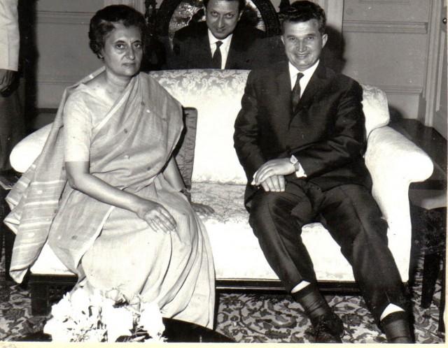 Indira Gandhi And Nicolae Ceauşescu