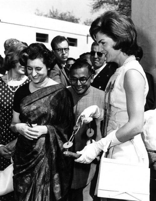 Jacqueline Kennedy And Indira Gandhi