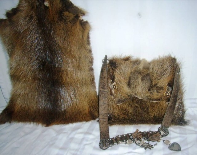 Nutria Fur Bag And Fur Skin