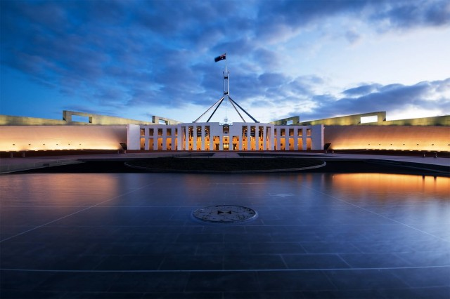 Parliament House Canberra Ns (Photo Credit: JJ Harrison / CC BY-SA 3.0)