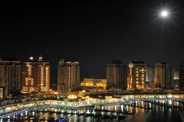 The Pearl At Night (Photo Credit: Steven Byles  / CC BY-SA 2.0)