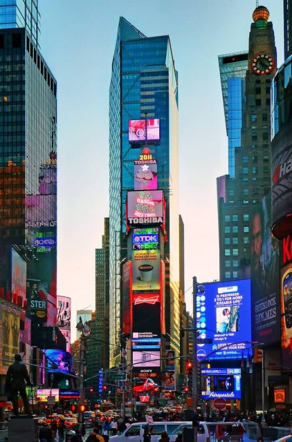 Times Square Dusk (Photo Credit: George Rex / CC BY-SA 2.0)