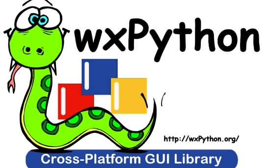 WX Python Logo (Photo Credit: Robin Dunn / CC BY-SA 3.0)